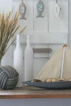 Seaside Style, Seaside Decor, Beach House Decor, Coastal Style, Coastal Decor, Cottages By The Sea, Beach Cottages, Les Hamptons, Deco Marine