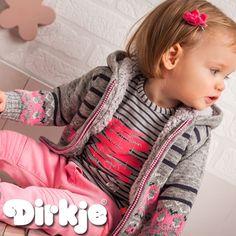 Hou jij net als wij van stoere strepen gecombineerd met roze? Dan is dit jullie oufit! Dirkje wintercollectie 2016/2017♥ #dirkje #babykleding #wintercollectie #roze #dirkjebabywear #meisje #strepen #outfit