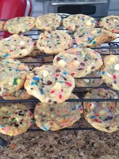 Birthday cake batter cookies...I may have to make these for someone's birthday in December!! :)