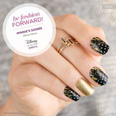 #DISNEYMINNIESSOIREE For all our Minnie Mouse fashionistas, this design is both elegant and chic! With pops of gold, this wrap is a must-have for your collection. ©Disney https://jamminmomma79.jamberry.com/
