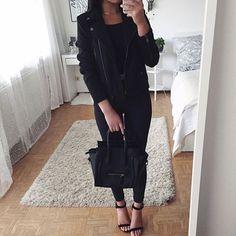 #allblack  Jacket & shoes: @lolashoetique