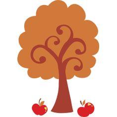 fall harvest apple tree