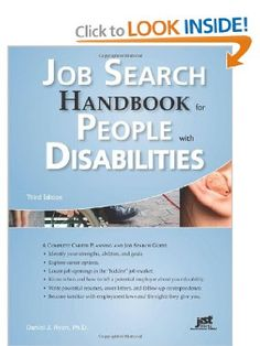 Job Search Handbook for People With Disabilities: A Complete Career Planning and Job Search Guide, 3rd Ed: Daniel J. Ryan: 9781593578138: Amazon.com: Books