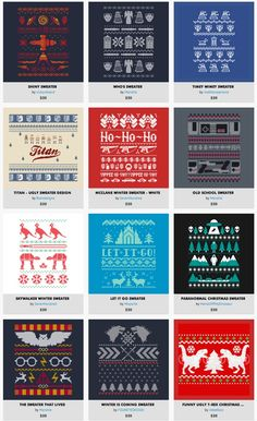 Check Out Our Ugly, Nerdy Christmas Sweater Shirts!