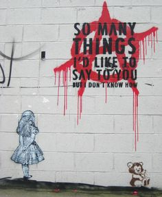 Street art or graffiti has always been an integral part of anarchist culture. Below are some of the best examples of anarchist graffiti from around Britain. Banksy, Chalk Art, Graffiti, Painting, Illustration Art, Art, Street Art Banksy, Outdoor Art, Art Pages