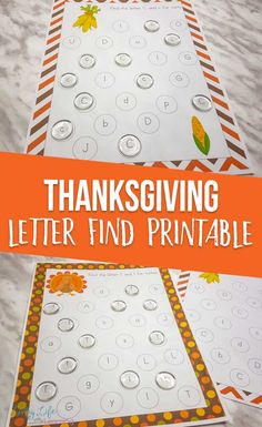 Have fun finding different letters in this Thanksgiving letter find printables, fun for preschoolers and kindergarten students and get to know the upper and lowercase letters.