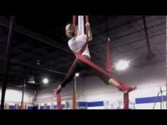 Aerial Silks: Crossback Straddle variations - YouTube
