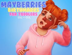 """sul–sul: """" Mayberries Birthmarks for Toddlers • Male & Female • Custom Colors & Patterns • Full credit to Mayberries!  DOWNLOAD  """""""