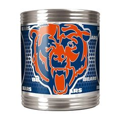 Hold your can with Chicago Bears pride in this Stainless Steel Can Coozie