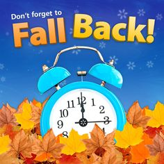 Daylight Saving Time Ends - Change Your Clocks! Remember to 'fall back' this weekend and turn your clocks back one hour. Day light saving time ends November 2015 at 2 a. Daylight Savings Fall Back, Daylight Saving Time Ends, Fall Back Time Change, Spring Forward Fall Back, Spring Ahead, Kids News, Clocks Back, Old Quotes, Autumn Day