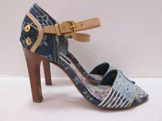dd84477745bb Keeks Buy Sell Designer Handbags - Louis Vuitton Monogram Denim Patchwork  Heels