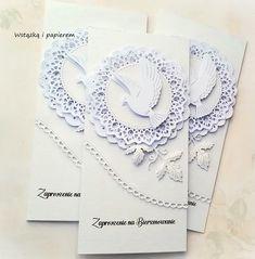 Wstążką i papierem: Białe, bielusieńkie Confirmation Cards, Spinner Card, Big Shot, Sympathy Cards, Baby Cards, Christening, Cardmaking, Birthday Cards, Crochet