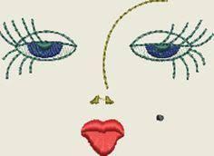Resultado de imagen para rag doll embroidered faces