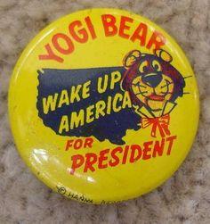 Yogi Bear for President button, 1964 by kerrytoonz, via Flickr