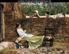Gossip - John William Waterhouse
