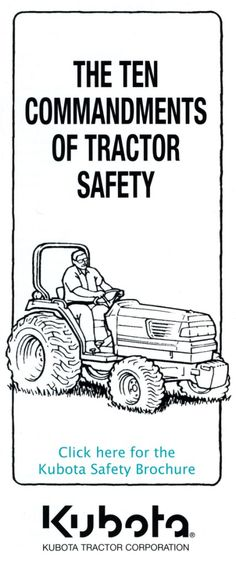 This website details tractor safety. Initially tractor safety would be presented to the students from the instructor. Once completed the students would demonstrate proper safety around tractors. Ag Mechanics, Agricultural Engineering, Agricultural Tools, Farm Lessons, Welding Classes, Farm Business, Teacher Boards, Kubota, Health And Safety