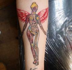 Photo of my Nirvana In Utero tattoo. Photo and tattoo by Paul Harting of Glen Burnie