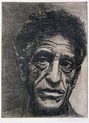 Giacometti-Etching-Self Portrait