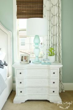 Jamie Young Lighting Table Lamp Base Deauville Sea Glass by Shea McGee Design via House of Turquoise