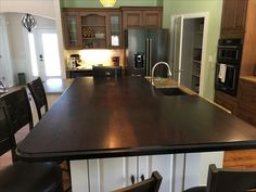 Custom Wood island tops made of African Wenge Custom Countertops, Wood Countertops, Wood Islands, Wood Vanity, Wood Bars, Custom Wood, Wood Species, Wood Table, African