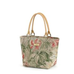 3cc71171d574c Vintage Style Floral Fabric   Leather Handbag by Umpie Fabric Handbags