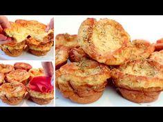 Τους κάνετε σε 3 λεπτά, φθηνή και νόστιμη, μια εξαιρετική συνταγή! # 301 - YouTube Quick Bread Recipes, Easy Delicious Recipes, Low Carb Recipes, Real Food Recipes, Baking Recipes, Tapas, Savoury Baking, Bread Baking, Breakfast Items