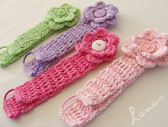 Crochet~ Flower Headbands - Free Tutorial