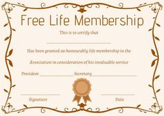 Free church membership certificate templates free membership free life membership certificate template yelopaper Choice Image