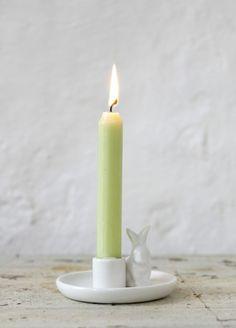 Lysestake hvit kanin Affari   bergamott.no - Skandinavisk interiør og norsk smykkedesign