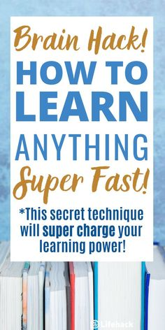 The simple technique to quickly grasp any skill, concept or idea! Learn how to supercharge your learning power in just 30 minutes! #learn #brainhack #studytips #studyhacks