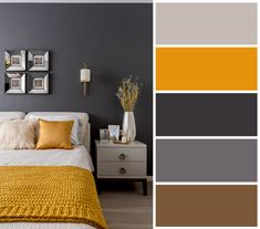Check out this amazing photo - what a clever design Bedroom Colour Palette, Bedroom Wall Colors, Home Decor Bedroom, Living Room Decor, Cottage Bedrooms, Design Bedroom, Colour Combinations Interior, Interior Colors, Color Combinations