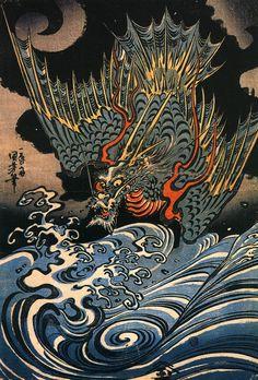 .;. Dragon by Utagawa Kuniyoshi