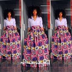 NEW Pazy Skirt with bow tie por THEAFRICANSHOP en Etsy