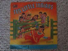 "1953 Cricket Records TEN LITTLE INDIANS 10"" 78rpm Record Album LP C-32  RARE"