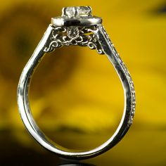 Antique iron work engagement ring