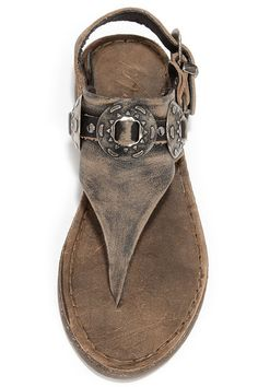 Matisse Ringo Black Tumbled Leather Western Thong Sandals at Lulus.com!