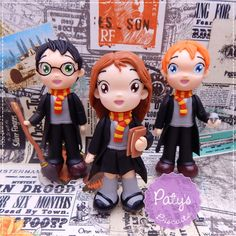 Kit 3 Miniaturas Harry Potter - Paty's Biscuit