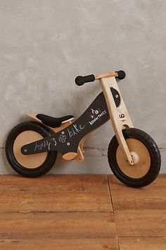 Blackboard Balance Bike #anthropologie