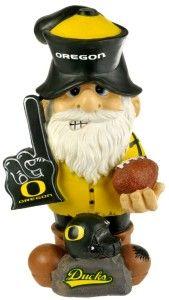 """Oregon Ducks Garden Gnome 11"""" Thematic - Second String - BiggSports.com"""