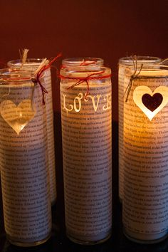 Sweet Heart Candles. This would be so cute with sheet music. DIY Candles