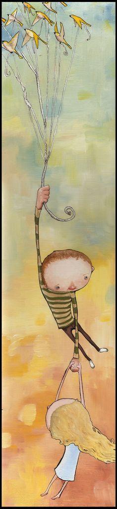 hang on!  Lovely illustration.