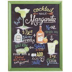 Margarita Sign, Patio Wall Art