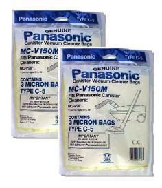 #Panasonic MC-V150M 3-Bags Of Replacement Vacuum Bags Fits Panasonic Canister Vacuum Cleaner Models (2-Pack) Panasonic MC-V150M (2-Pack) Features: Canister Bags...