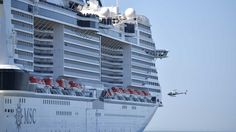 First pictures inside Europe's biggest cruise ship as it sets off on its maiden voyage