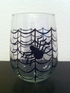 Spider Web Wine Glass by ManchesterCreations on Etsy, $12.00