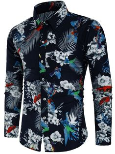 3252b2b602 Slim Fit Floral Print Shirt Black. Fashion Pioneer with more than 200000  different style of clothes lower than average market price