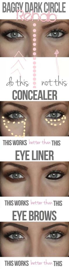 Beauty Hacks for Teens - Baggy Dark Circle Rehab - DIY Makeup Tips and Hacks for Skin, Hairstyles, Acne, Bras and Everything in Between - Pictures and Video Tutorials for Girls of All Shapes and Sizes Whether You're Fit or Want to Lose Weight - Get in Shape for Summer with These Awesome Ideas - thegoddess.com/beauty-hacks-teens