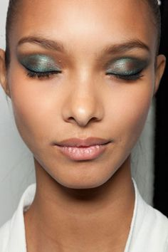 Emphasize with intense shimmery shadows, as seen on Jason Wu's runway, for mesmerizing prom eyes, #PFBeautyBuzz