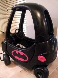 Aiden definitely needs a bat mobile. So he can cruise Stealth Mode! Cozy Coupe Makeover, Little Tykes, My Baby Girl, Girl Car, Batmobile, Baby Needs, Old Toys, Batgirl, Toddler Toys