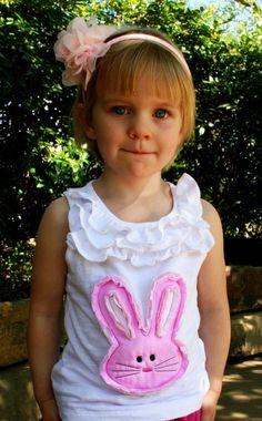 Raggy Easter bunny shirt